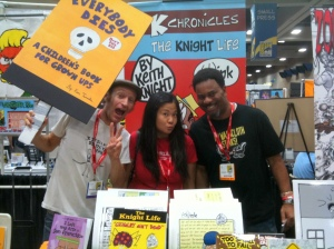 Lonnie Millsap at Keith Knight booth at Comic-Con!