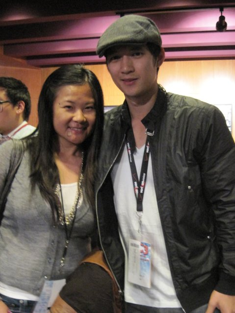 Jenny Yang with Harry Shum Jr Mike Chang on Glee C FilmFestival